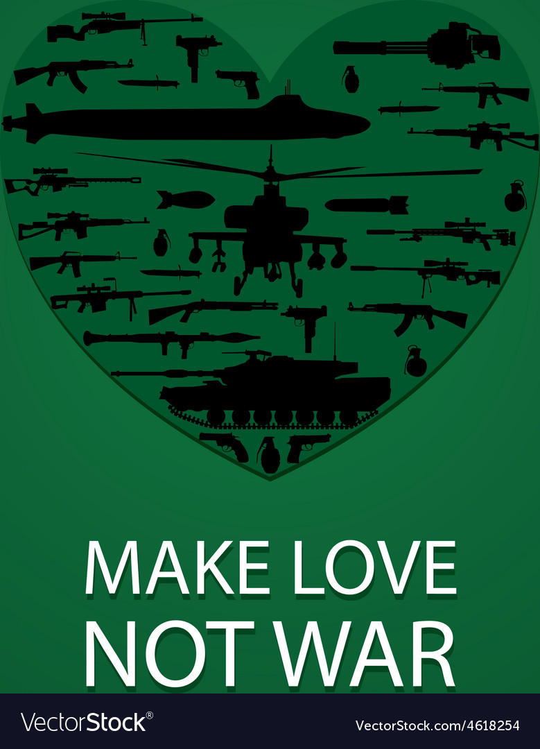 Make love not war poster vector | Price: 1 Credit (USD $1)