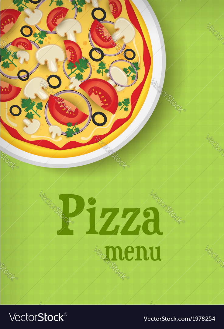 Pizza green menu vector | Price: 1 Credit (USD $1)