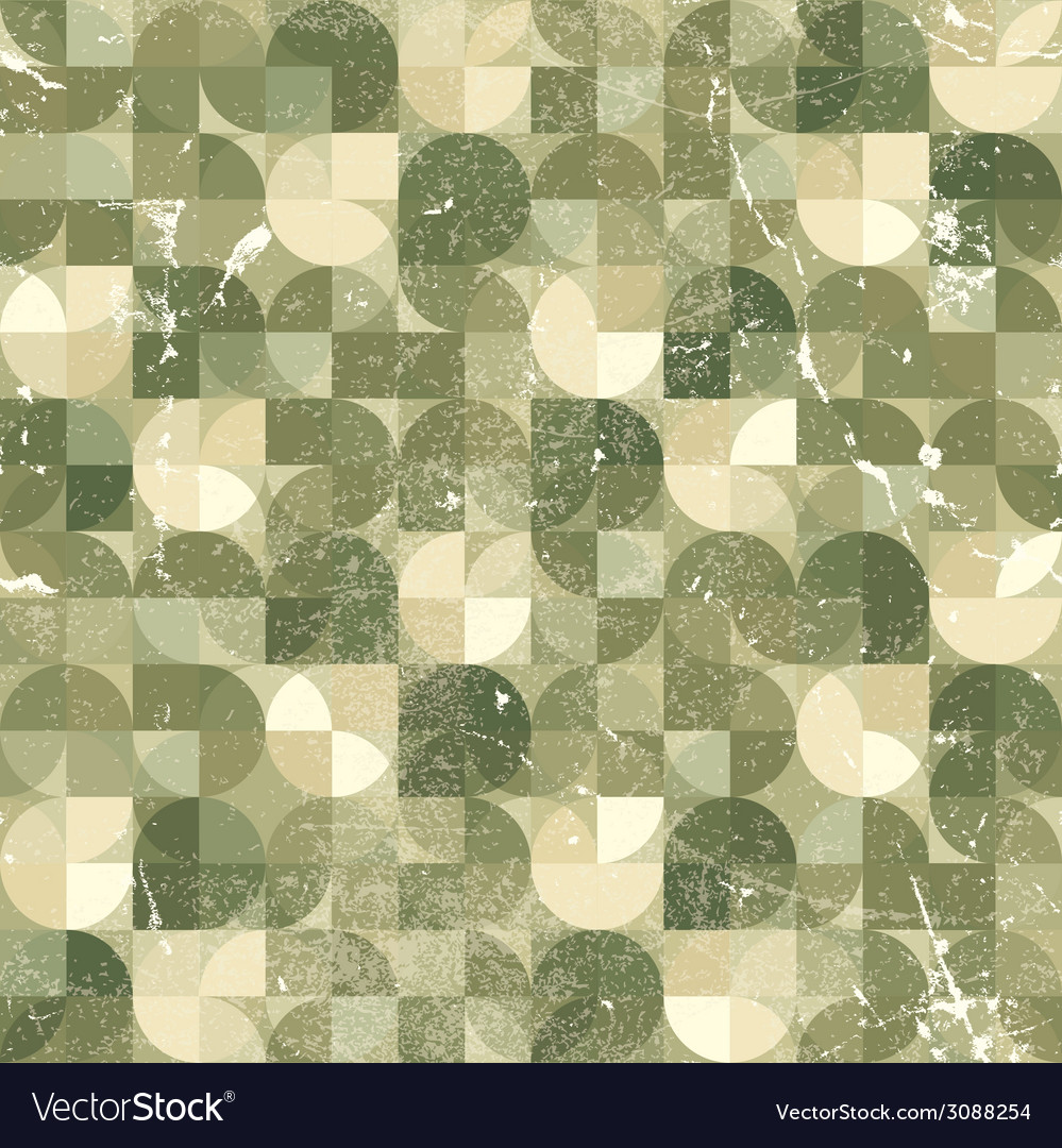 Seamless aged mosaic background vintage seamless vector | Price: 1 Credit (USD $1)