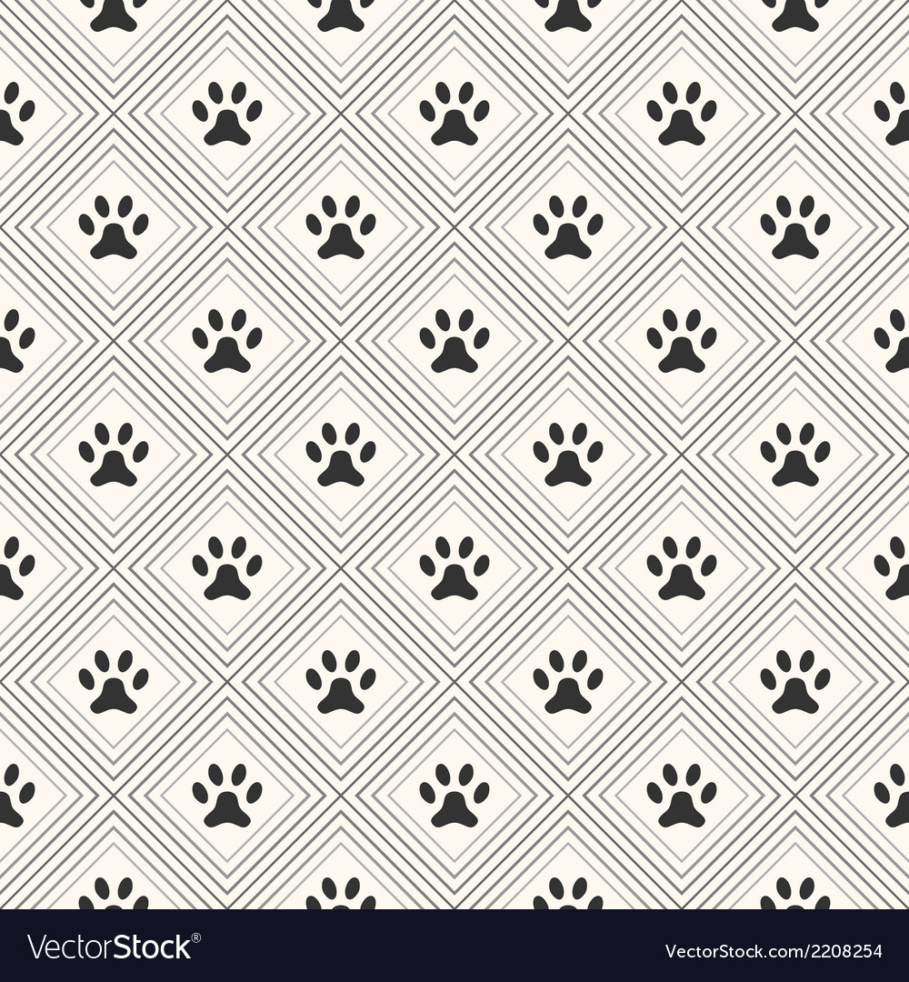 Seamless animal pattern of paw footprint in vector | Price: 1 Credit (USD $1)