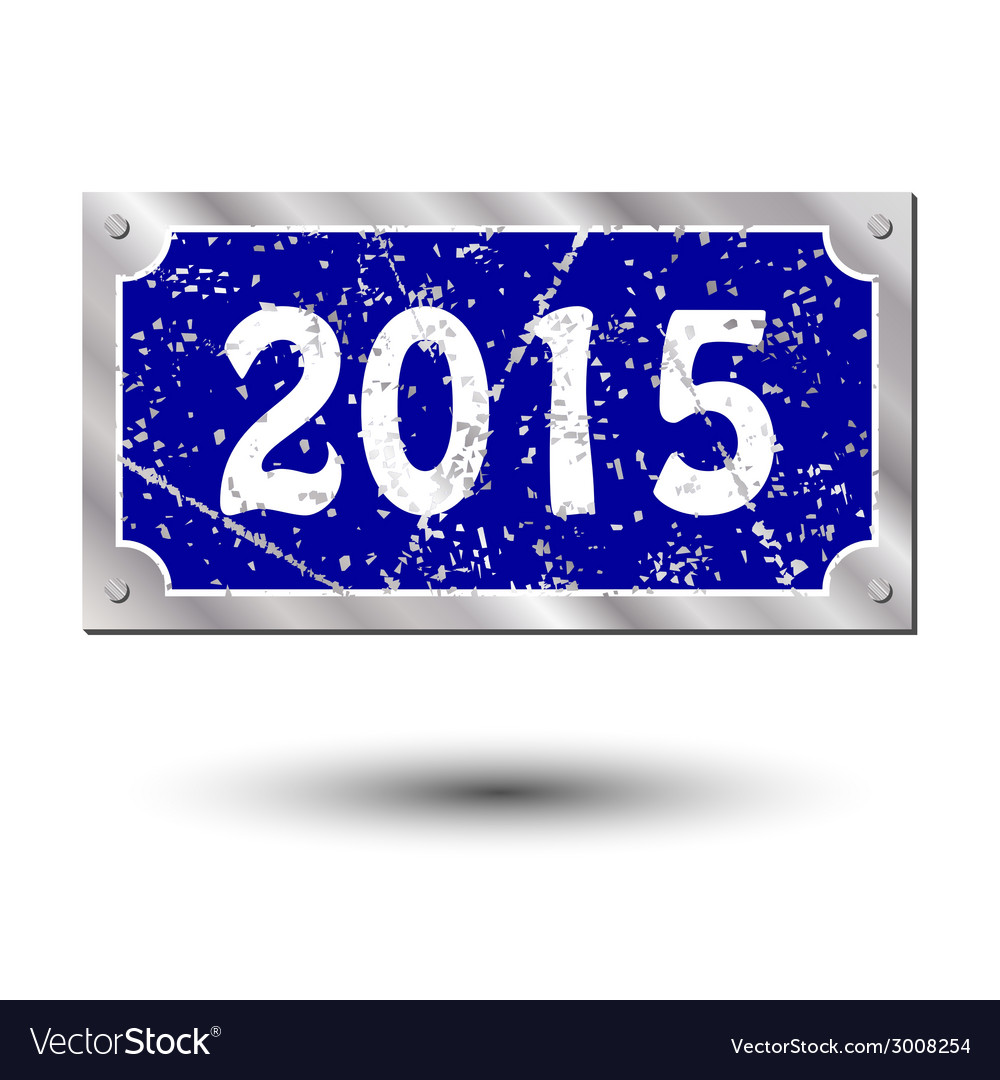 Sign new year vector | Price: 1 Credit (USD $1)