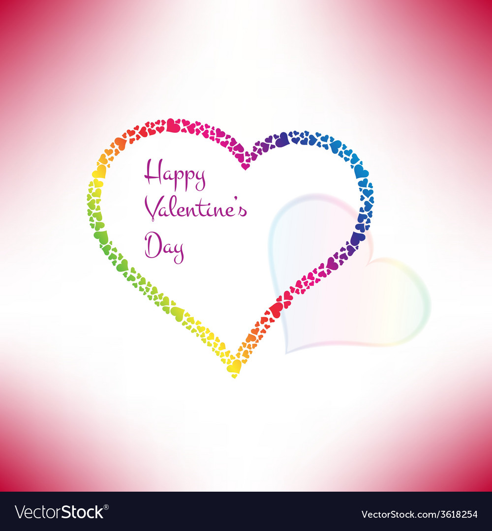 Valentines card with stylish hearts vector | Price: 1 Credit (USD $1)