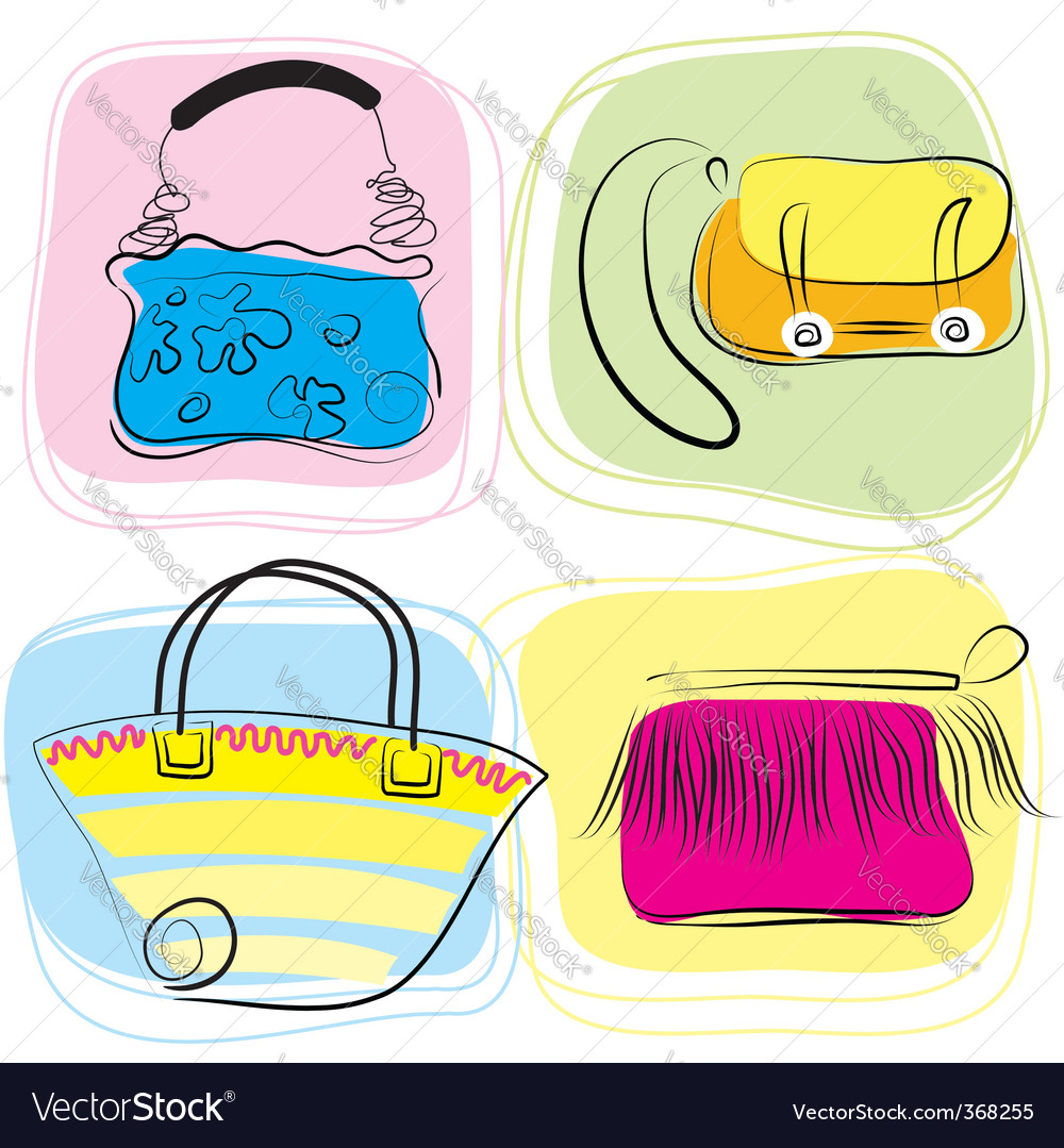 Bag drawings vector | Price: 3 Credit (USD $3)