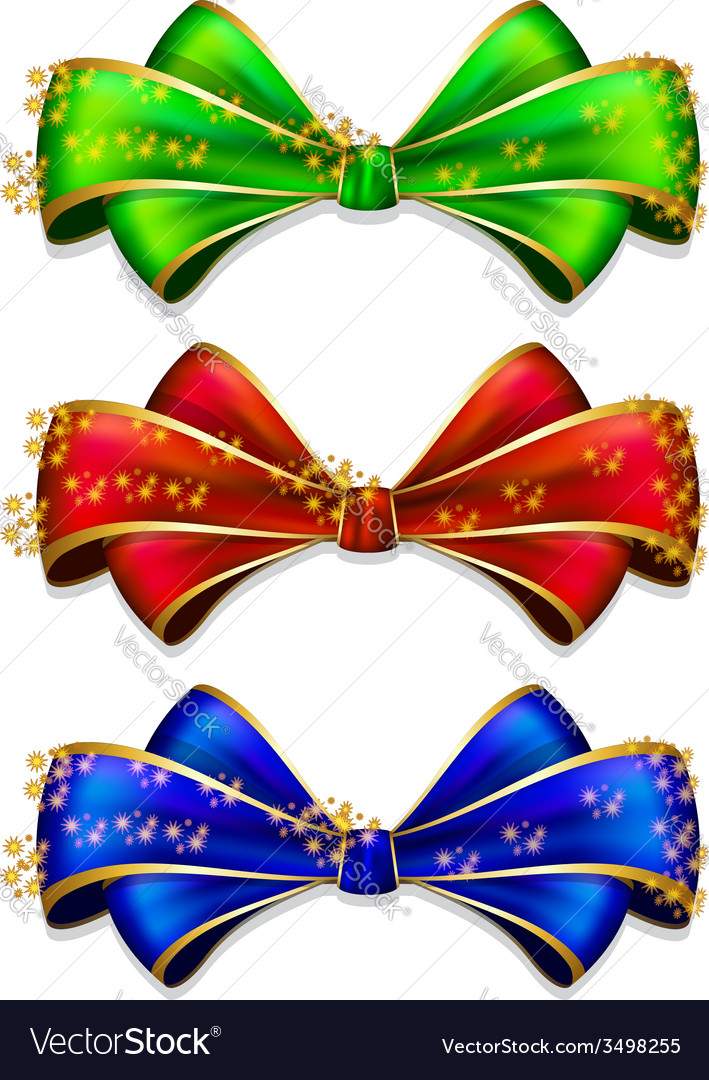 Bow in 3 color vector | Price: 1 Credit (USD $1)