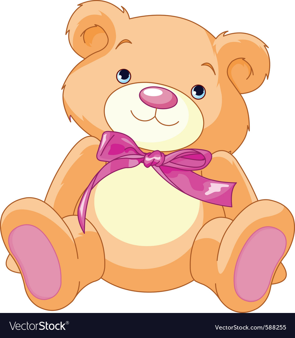 Child teddy bear vector | Price: 1 Credit (USD $1)
