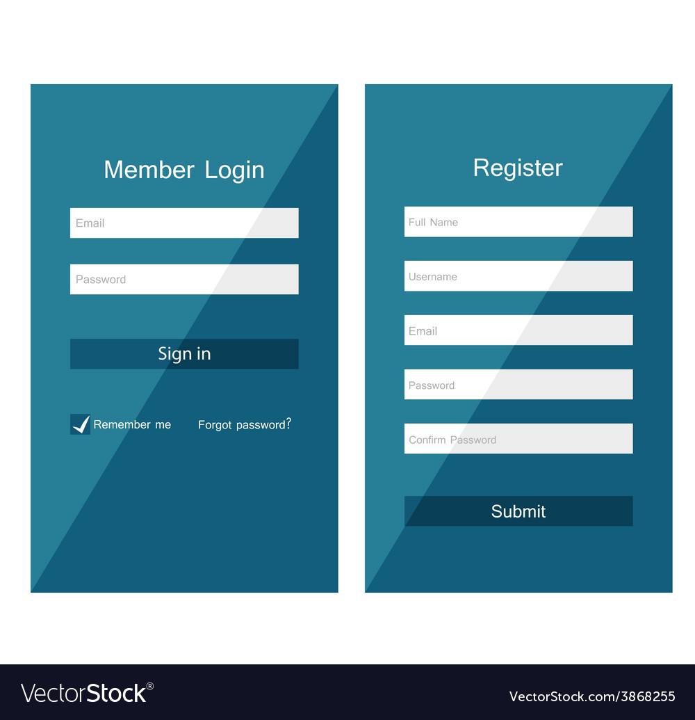 Forms login vector | Price: 1 Credit (USD $1)