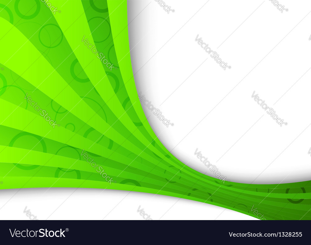 Freshness and ecology in a green wave vector | Price: 1 Credit (USD $1)