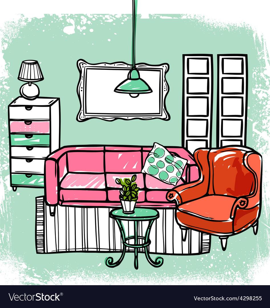 Furniture sketch vector | Price: 1 Credit (USD $1)