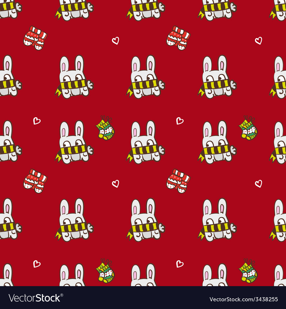 Hand drawn christmas or new year seamless pattern vector | Price: 1 Credit (USD $1)
