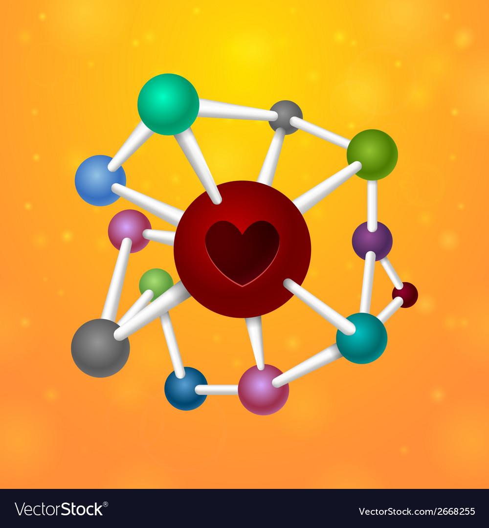 Molecules heart vector | Price: 1 Credit (USD $1)