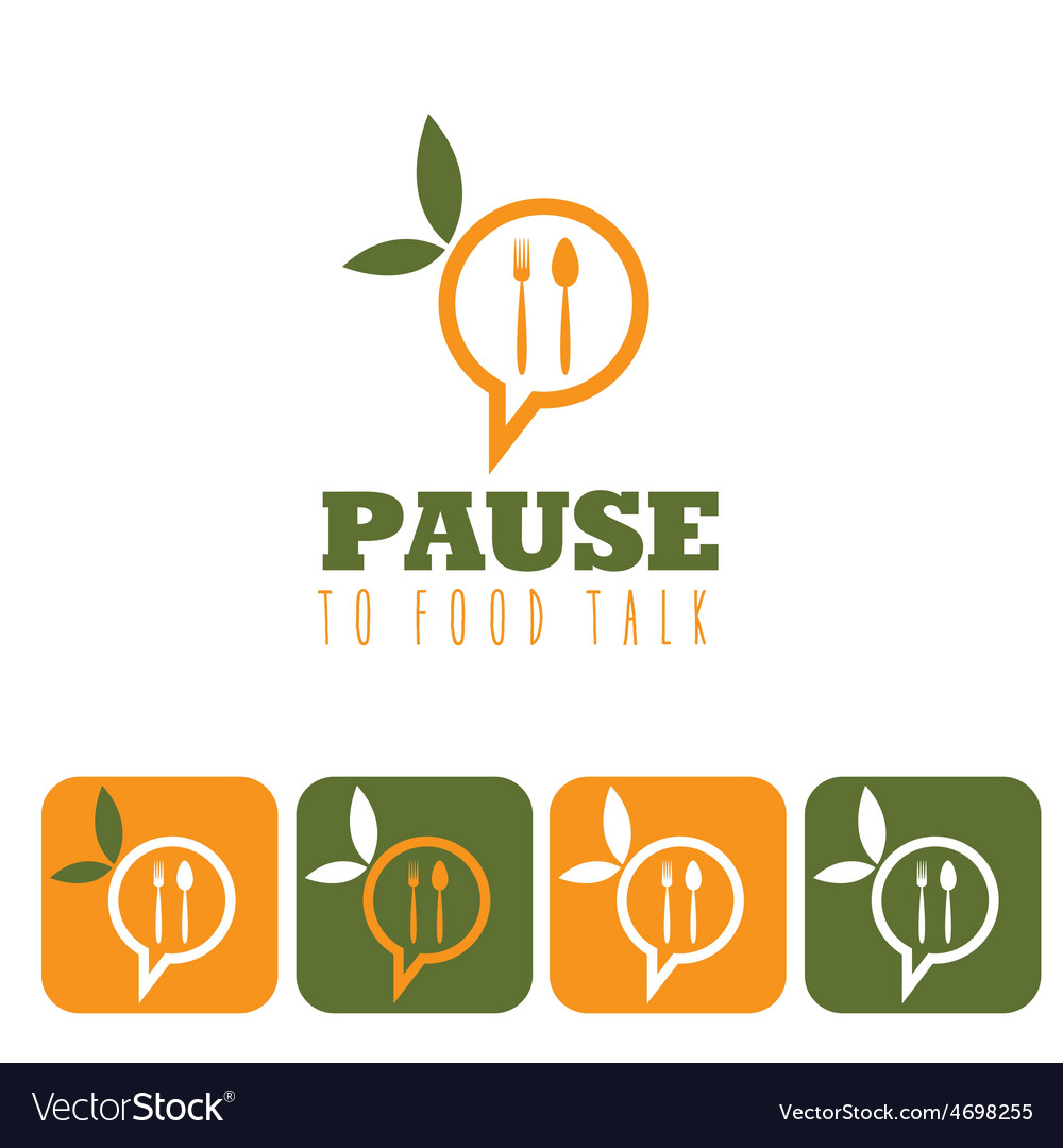 Pause to food talk concept and icon set vector   Price: 1 Credit (USD $1)