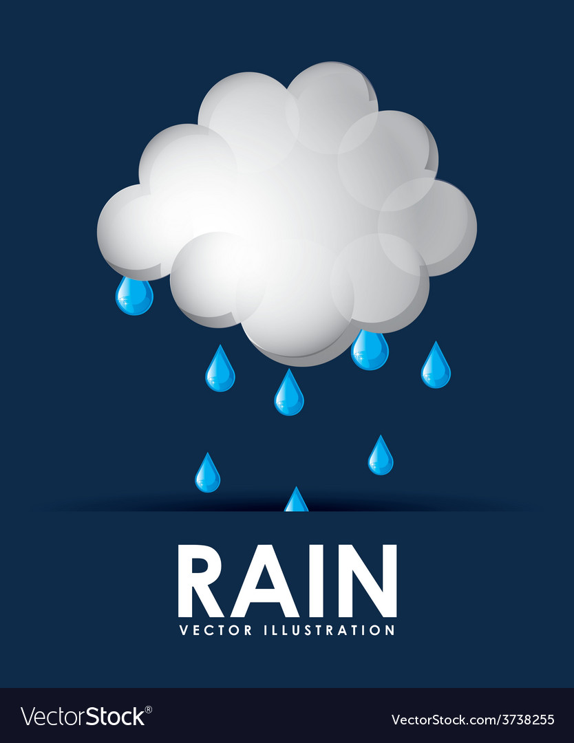 Rain weather design vector | Price: 1 Credit (USD $1)