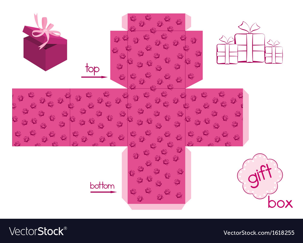 Template for elegant gift box vector   Price: 1 Credit (USD $1)