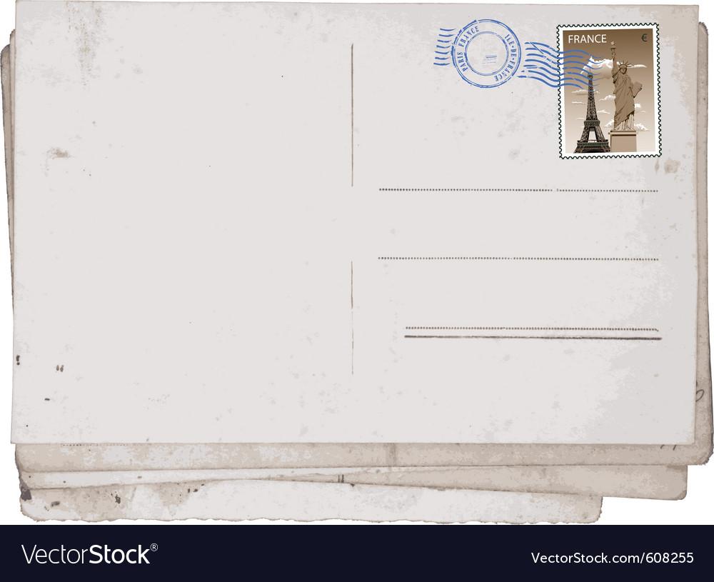 Vintage postcard vector | Price: 1 Credit (USD $1)
