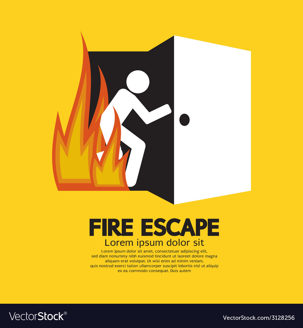 Fire escape graphic sign vector | Price: 1 Credit (USD $1)