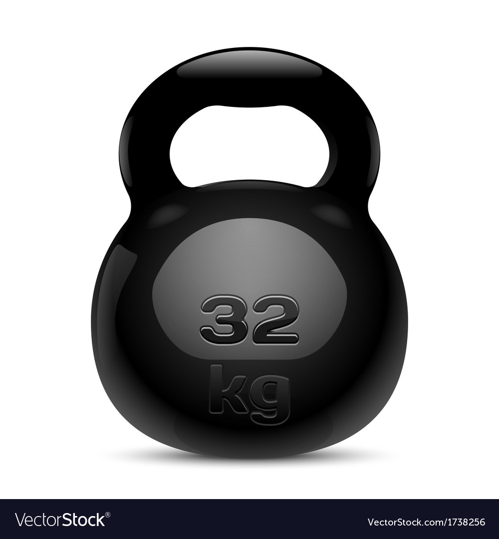 Kettlebell isolated vector | Price: 1 Credit (USD $1)