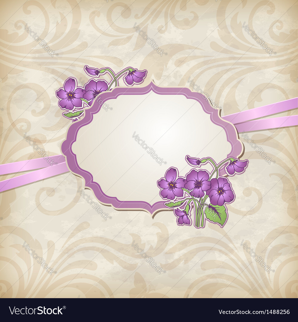 Label with flowers vector   Price: 1 Credit (USD $1)
