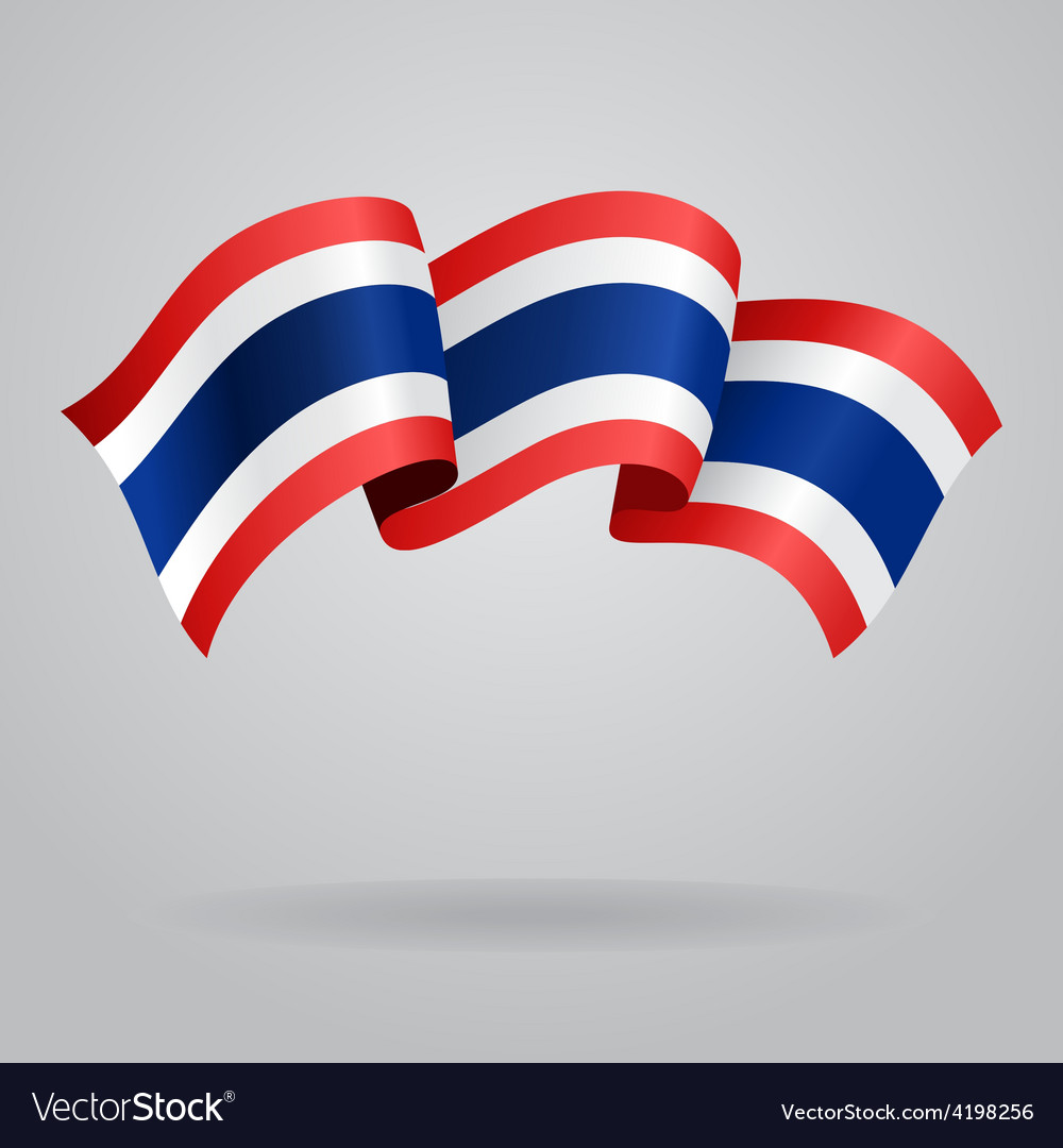 Thai waving flag vector | Price: 1 Credit (USD $1)