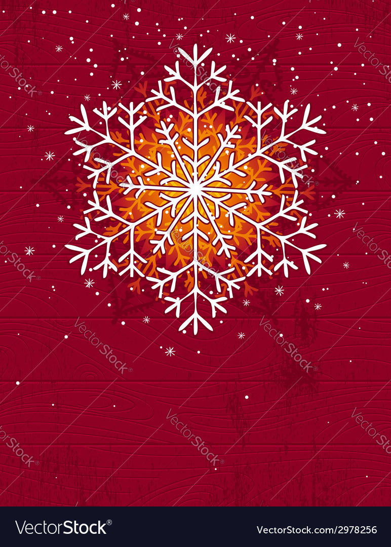 Wooden christmas card with snowflake vector   Price: 1 Credit (USD $1)