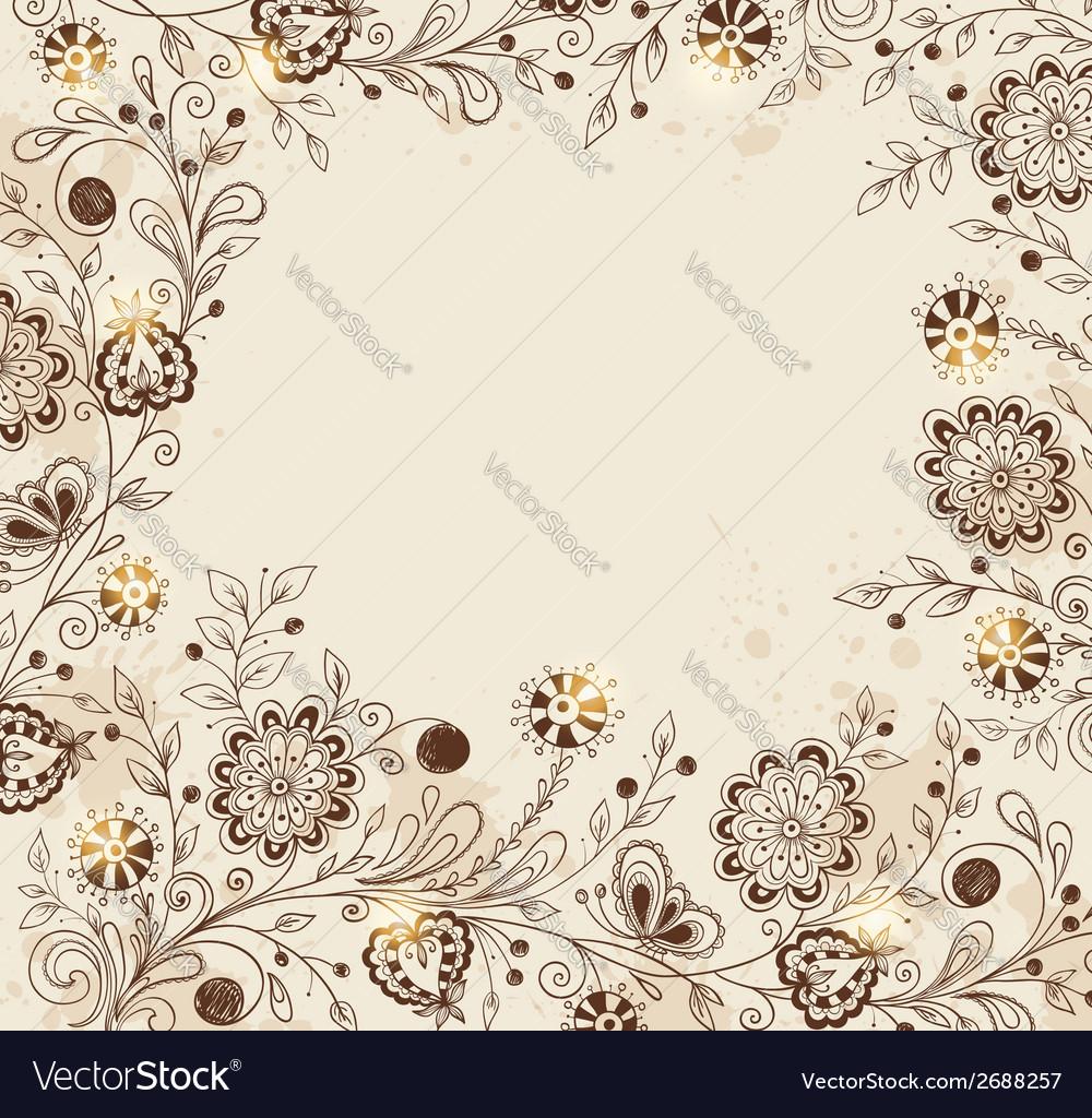 Decorative hand drawn background vector | Price: 1 Credit (USD $1)