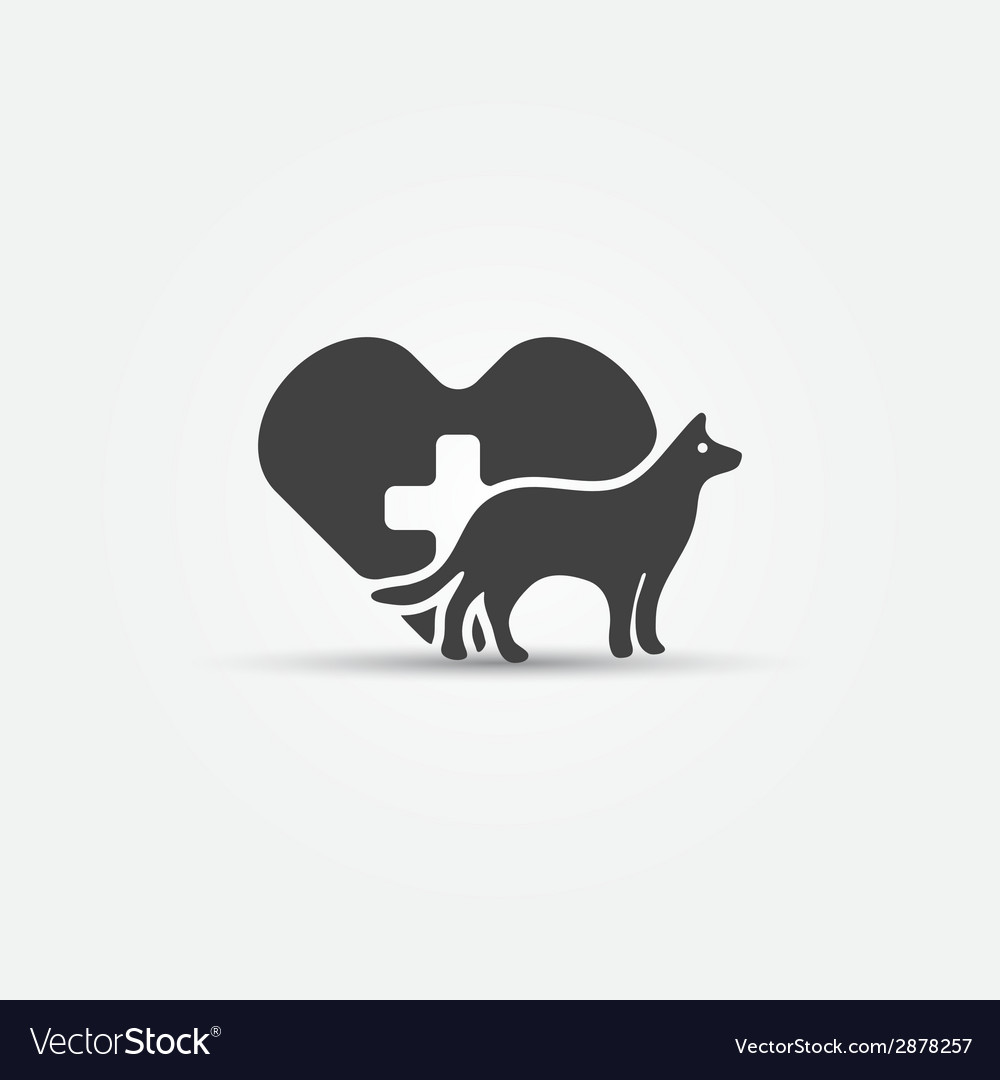 Dog vet icon vector | Price: 1 Credit (USD $1)