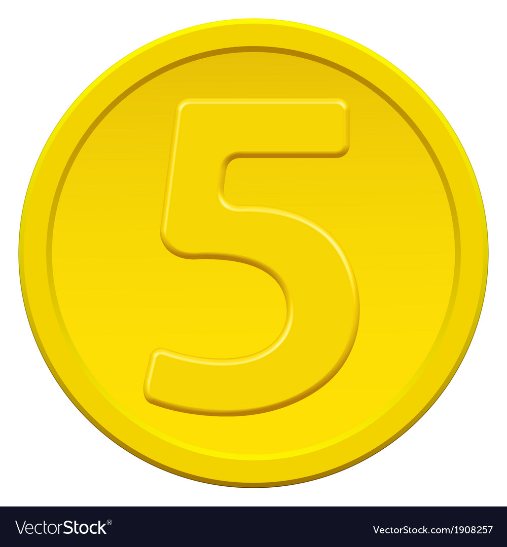 Five coin vector | Price: 1 Credit (USD $1)