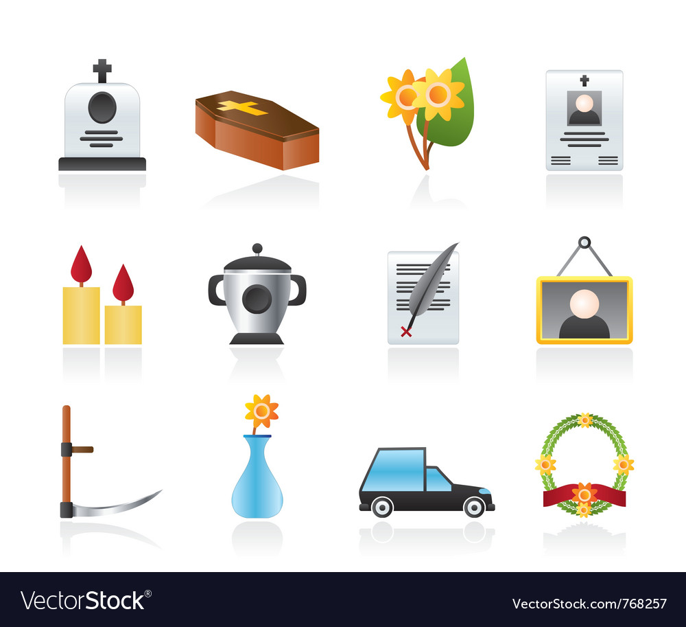 Funeral and burial icons vector | Price: 3 Credit (USD $3)