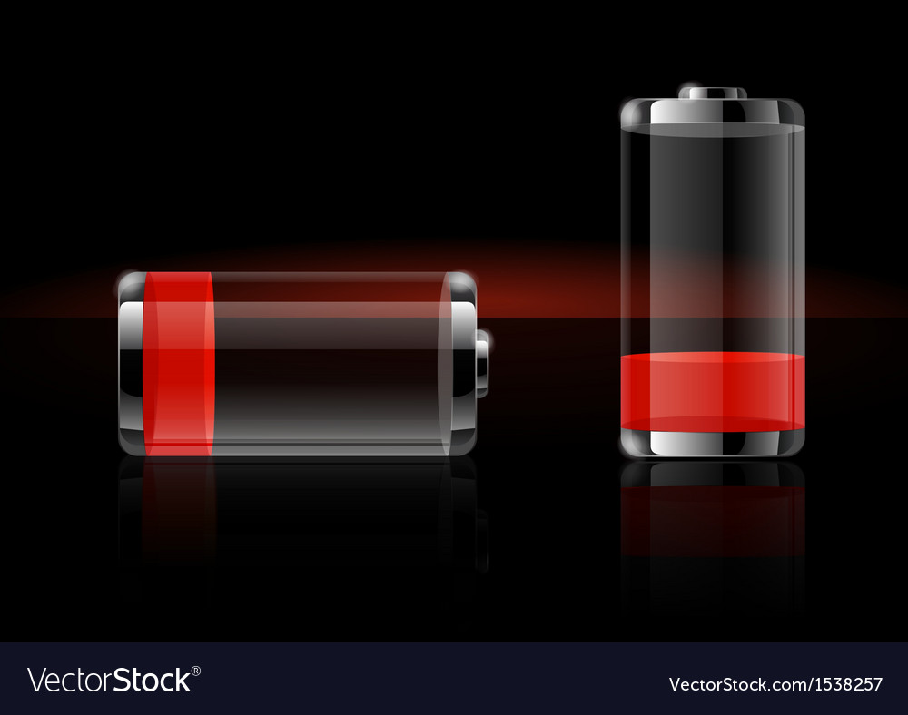 Glossy transparent battery icons vector | Price: 3 Credit (USD $3)