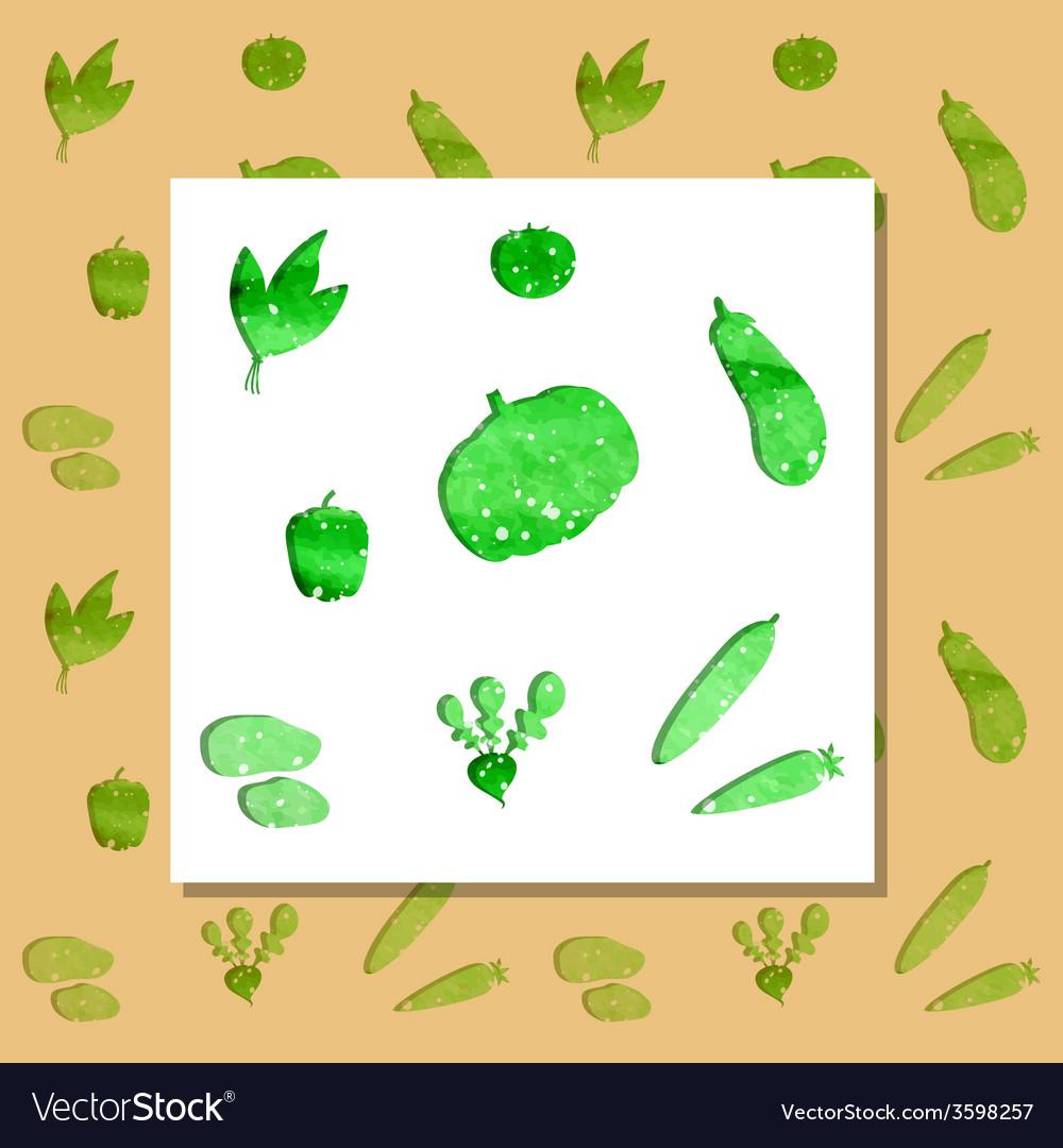 Green vegetables vector | Price: 1 Credit (USD $1)