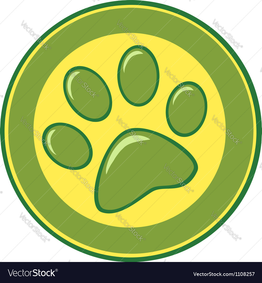 Paw print banner vector | Price: 1 Credit (USD $1)