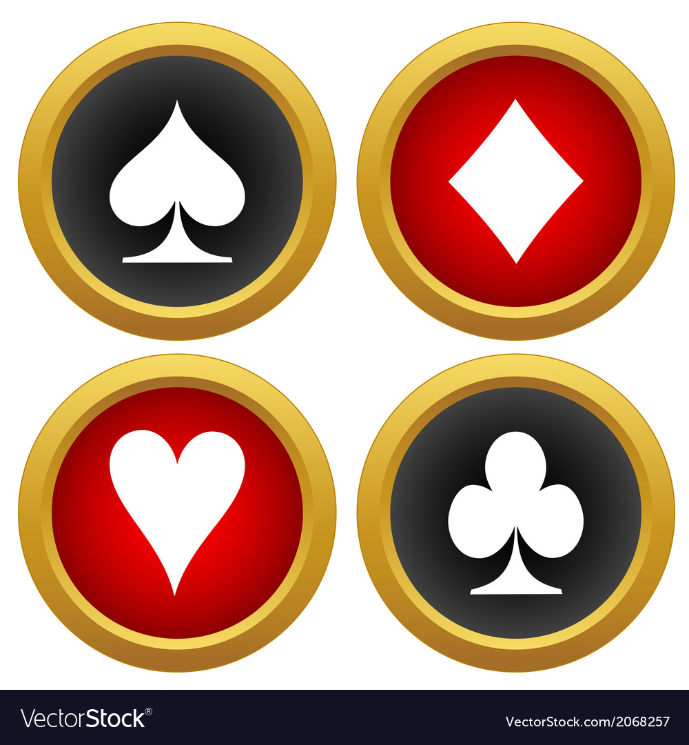 Playing cards icons vector | Price: 1 Credit (USD $1)