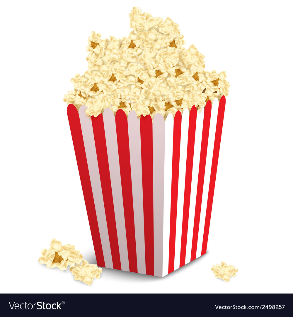 Popcorn box isolated vector | Price: 1 Credit (USD $1)
