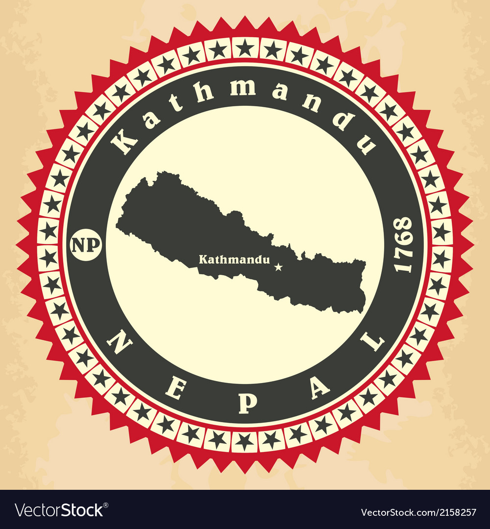 Vintage label-sticker cards of nepal vector | Price: 1 Credit (USD $1)