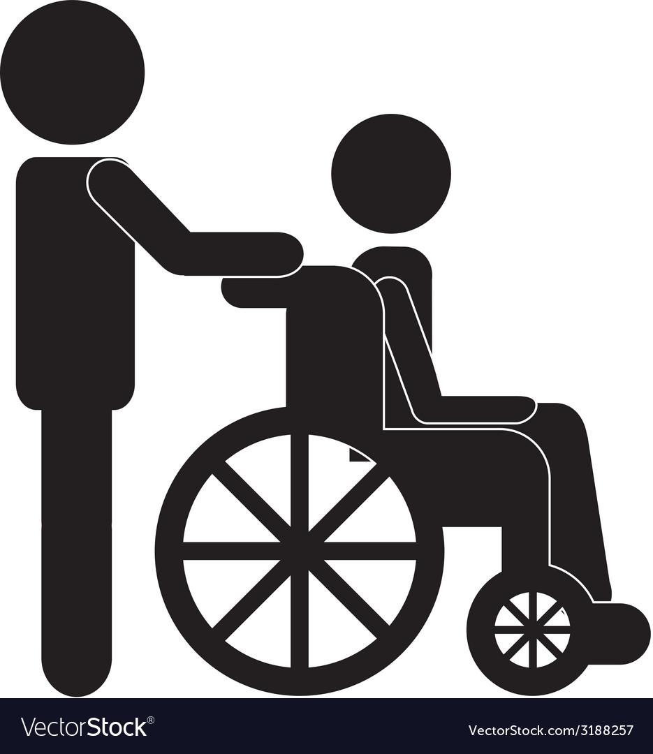 Wheelchair design vector | Price: 1 Credit (USD $1)
