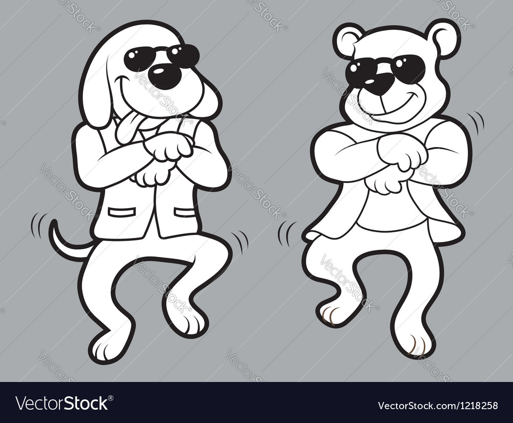 Animal dancing a popular dance vector | Price: 3 Credit (USD $3)
