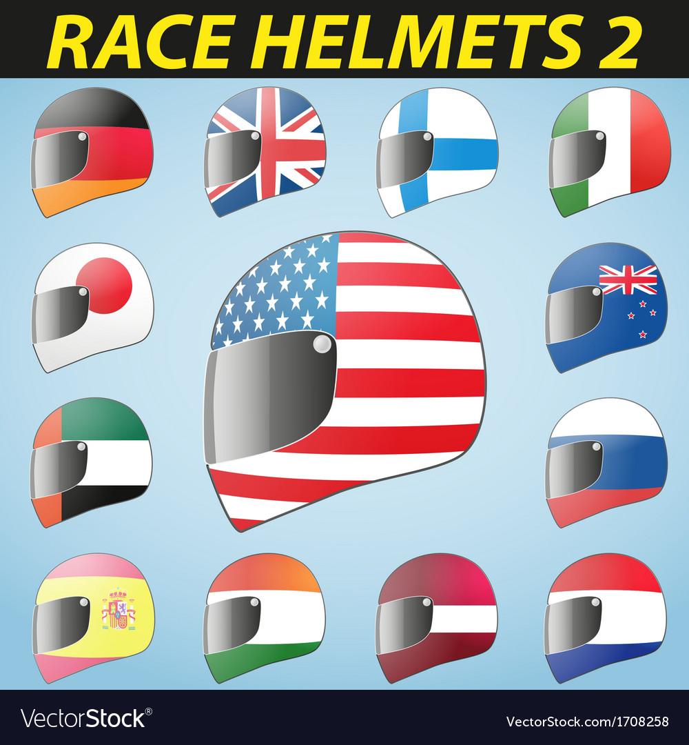 Bike helmet and flags vector | Price: 1 Credit (USD $1)