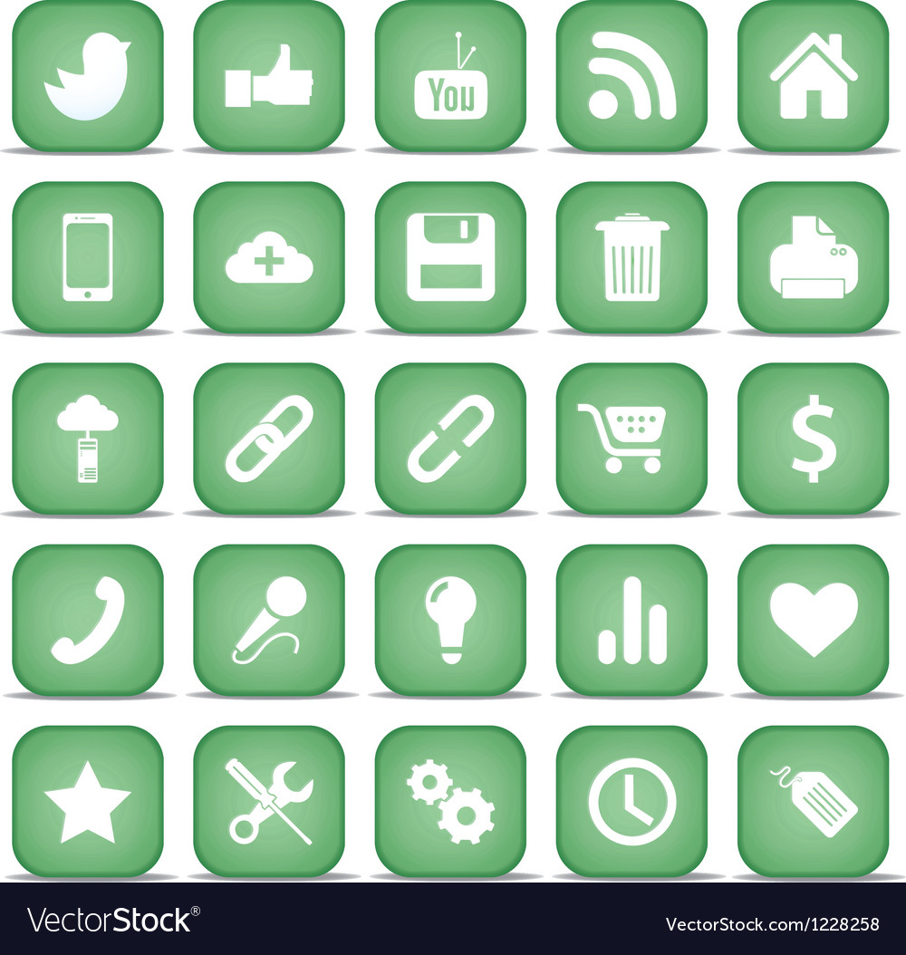 Communication icons web set internet collection vector | Price: 1 Credit (USD $1)