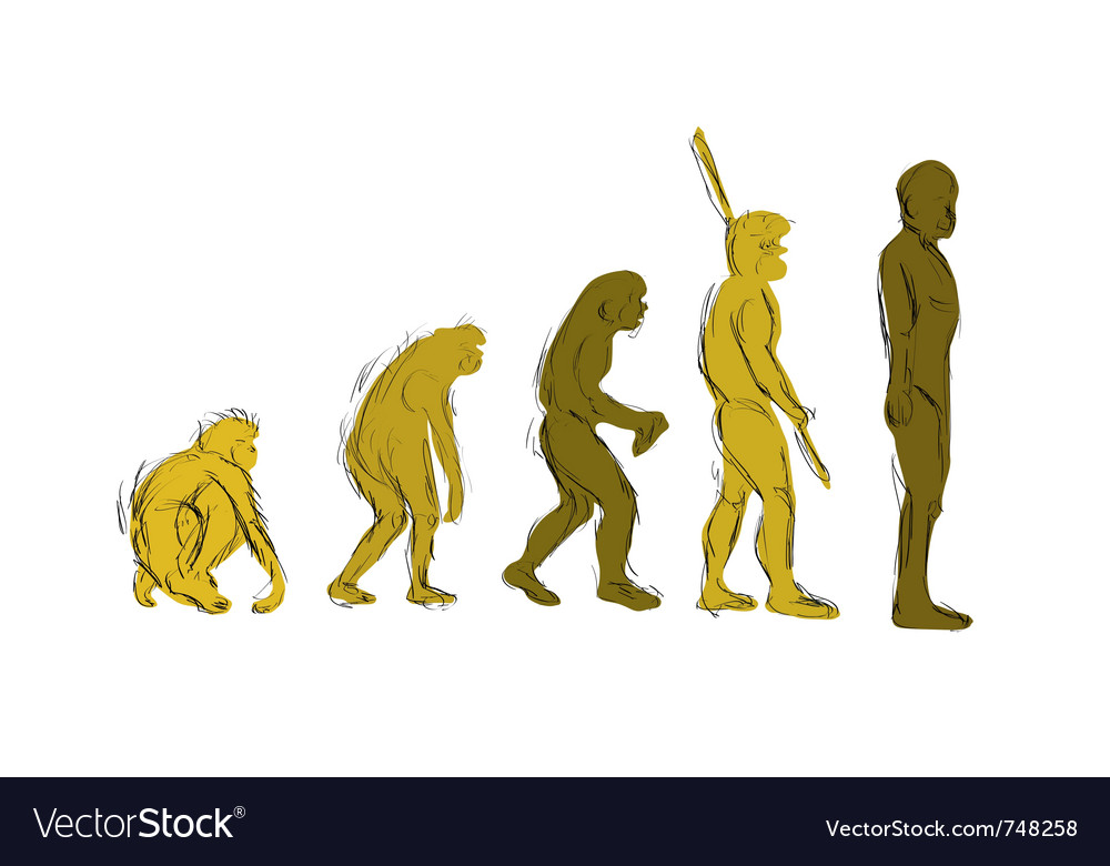 Evolution handdraw vector | Price: 1 Credit (USD $1)