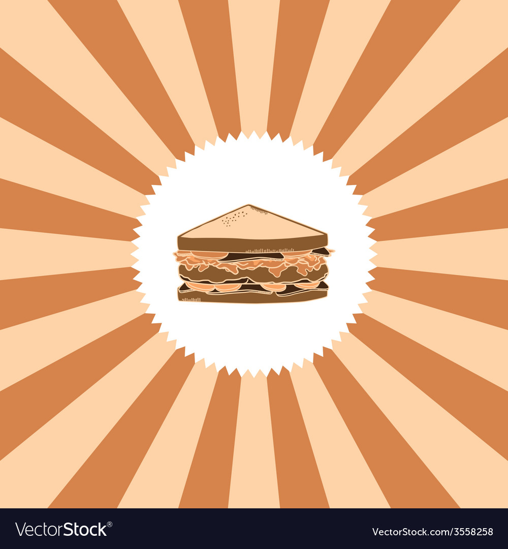 Food and drink theme sandwich vector | Price: 1 Credit (USD $1)