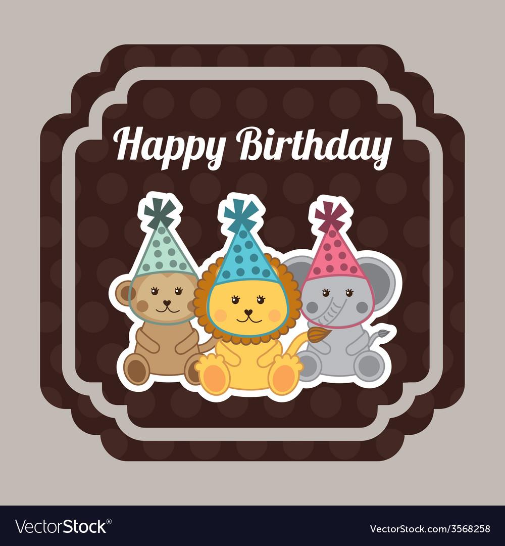 Happy birthday design vector | Price: 1 Credit (USD $1)