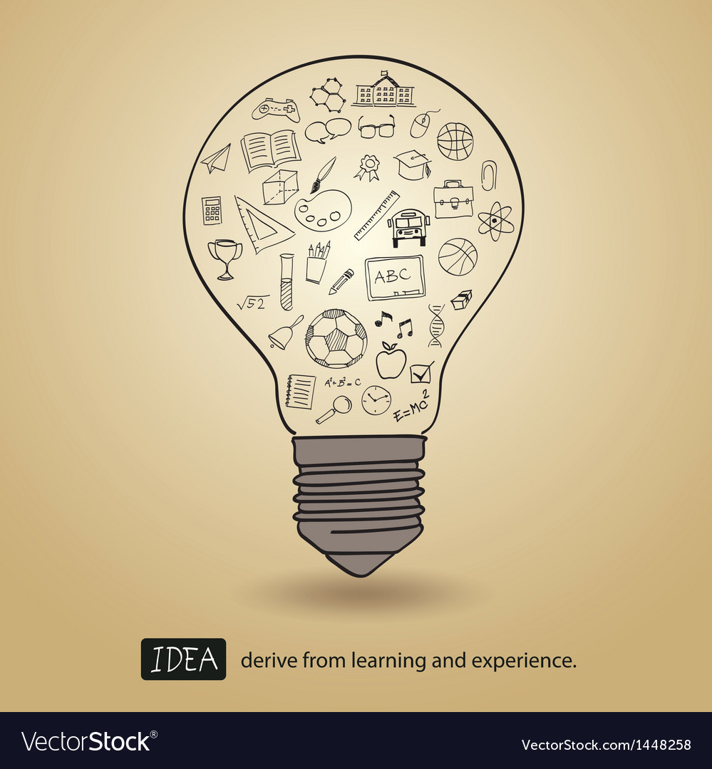 Idea derive from learning and experience vector | Price: 1 Credit (USD $1)