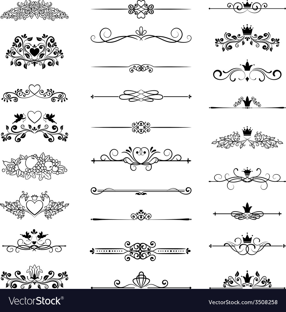Page decor with crowns vector | Price: 1 Credit (USD $1)