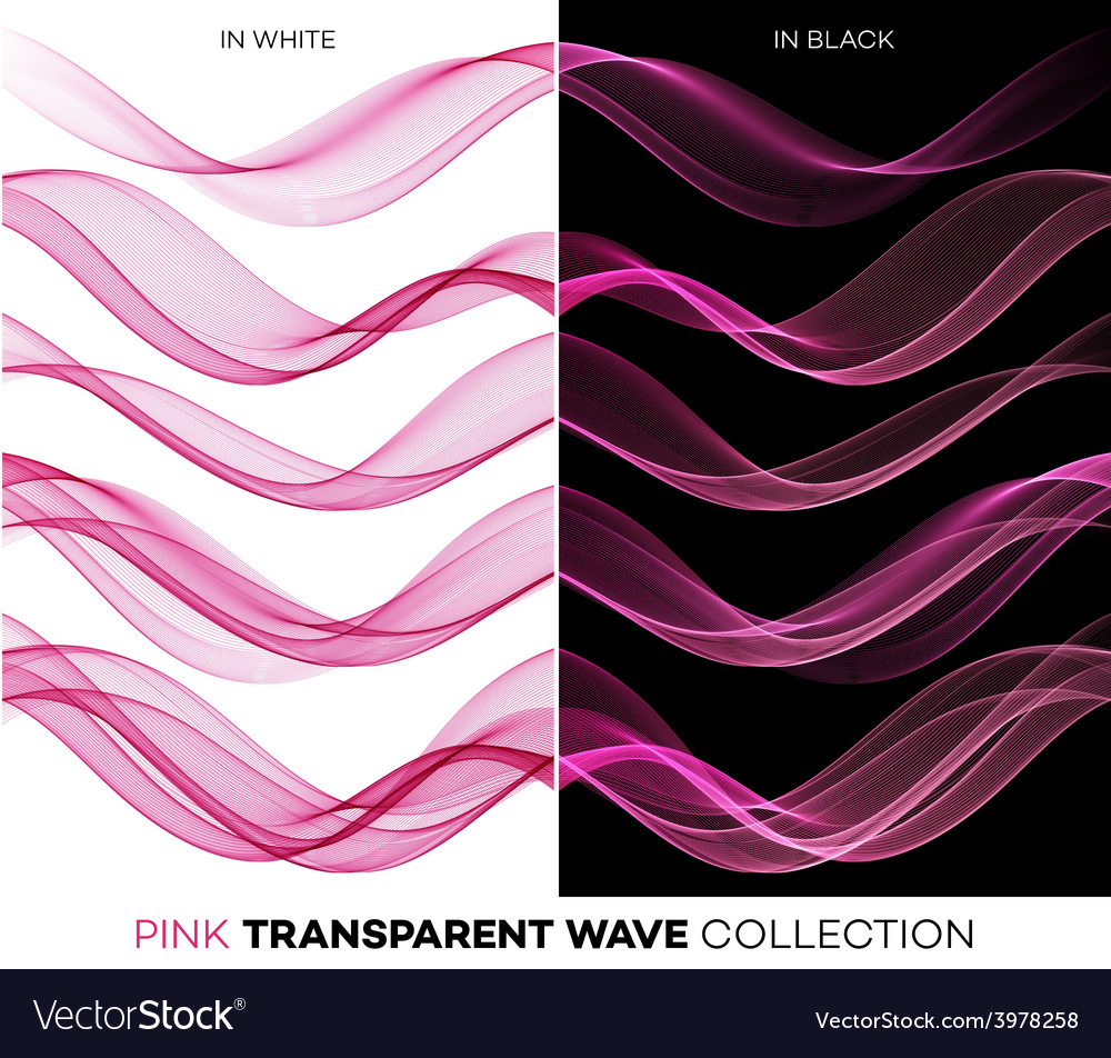 Set of color transparent smoky wave vector | Price: 1 Credit (USD $1)
