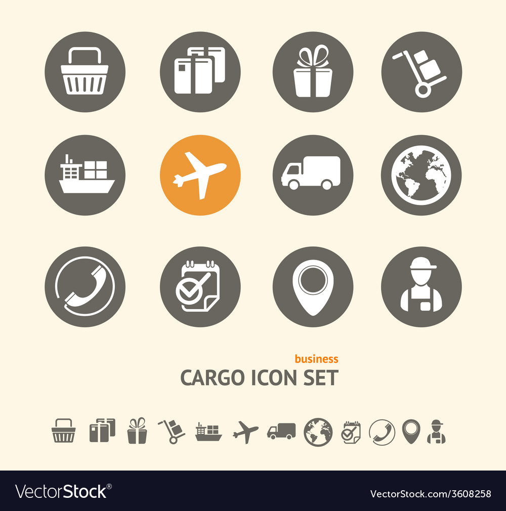 Shipping logistics and cargo icon set vector | Price: 1 Credit (USD $1)