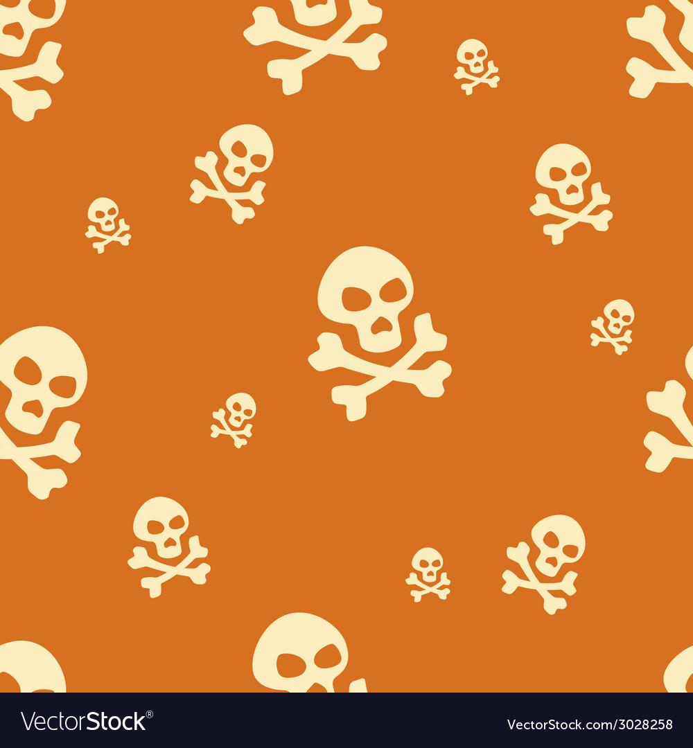 Skull pattern orange vector | Price: 1 Credit (USD $1)