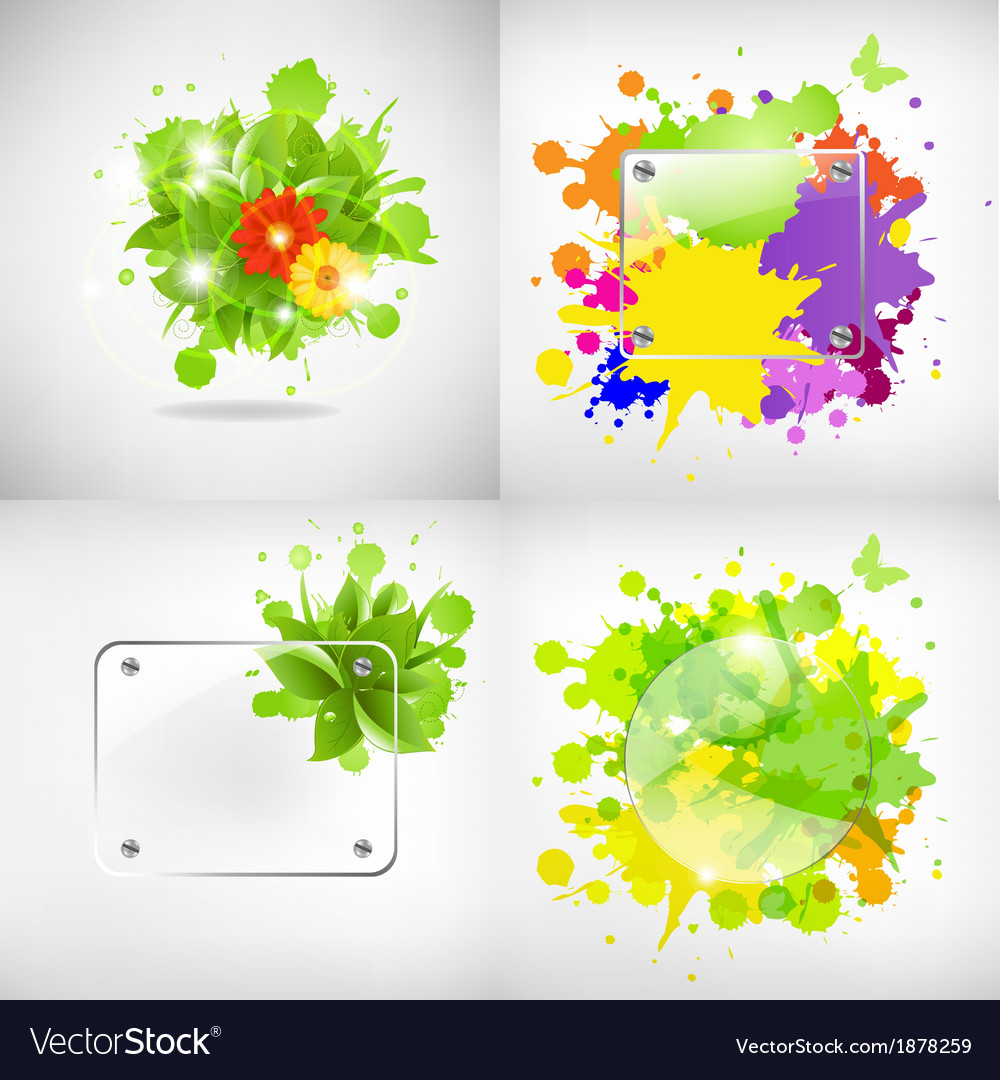 Backgrounds with glass and blots vector | Price: 1 Credit (USD $1)