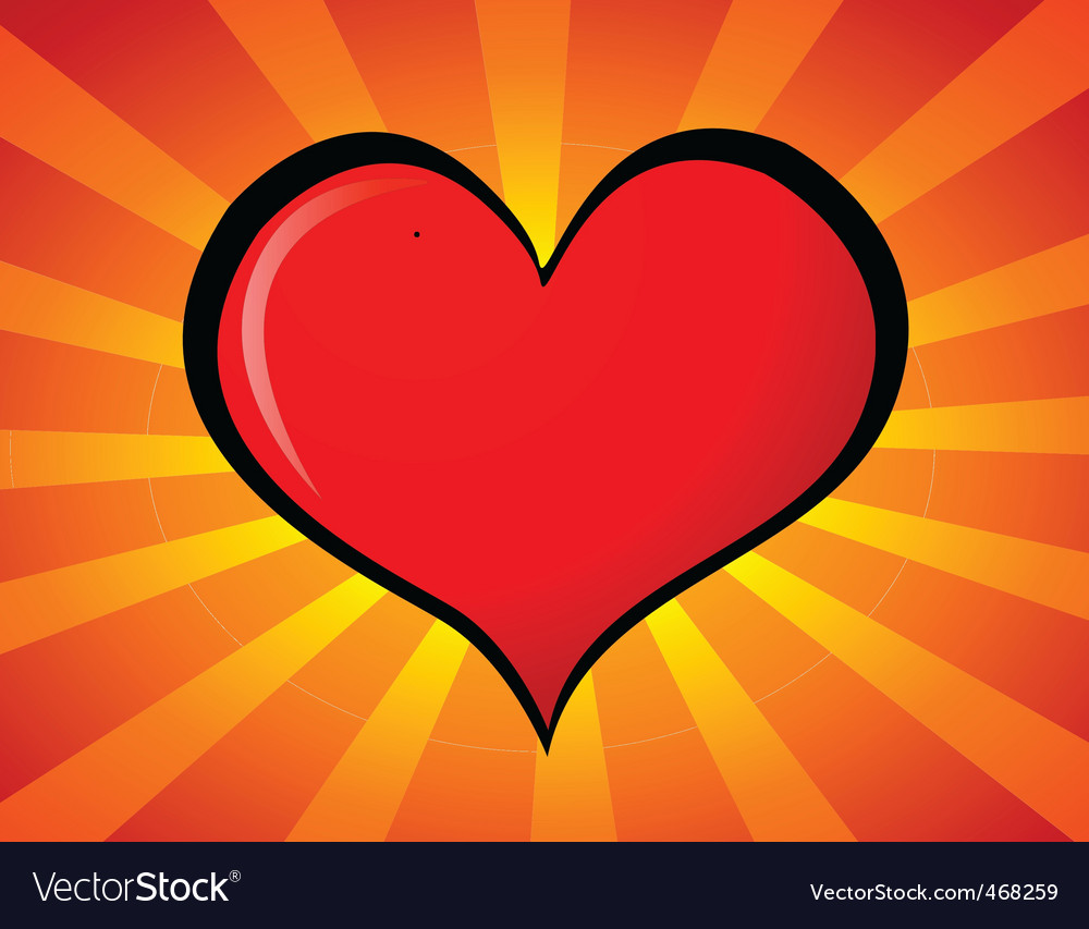Cartoon heart vector | Price: 1 Credit (USD $1)