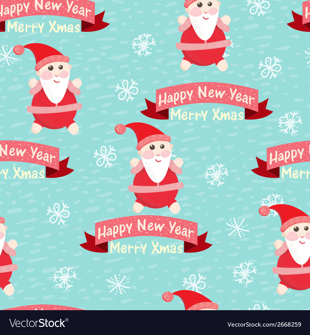 Christmas and new year seamless background vector   Price: 1 Credit (USD $1)