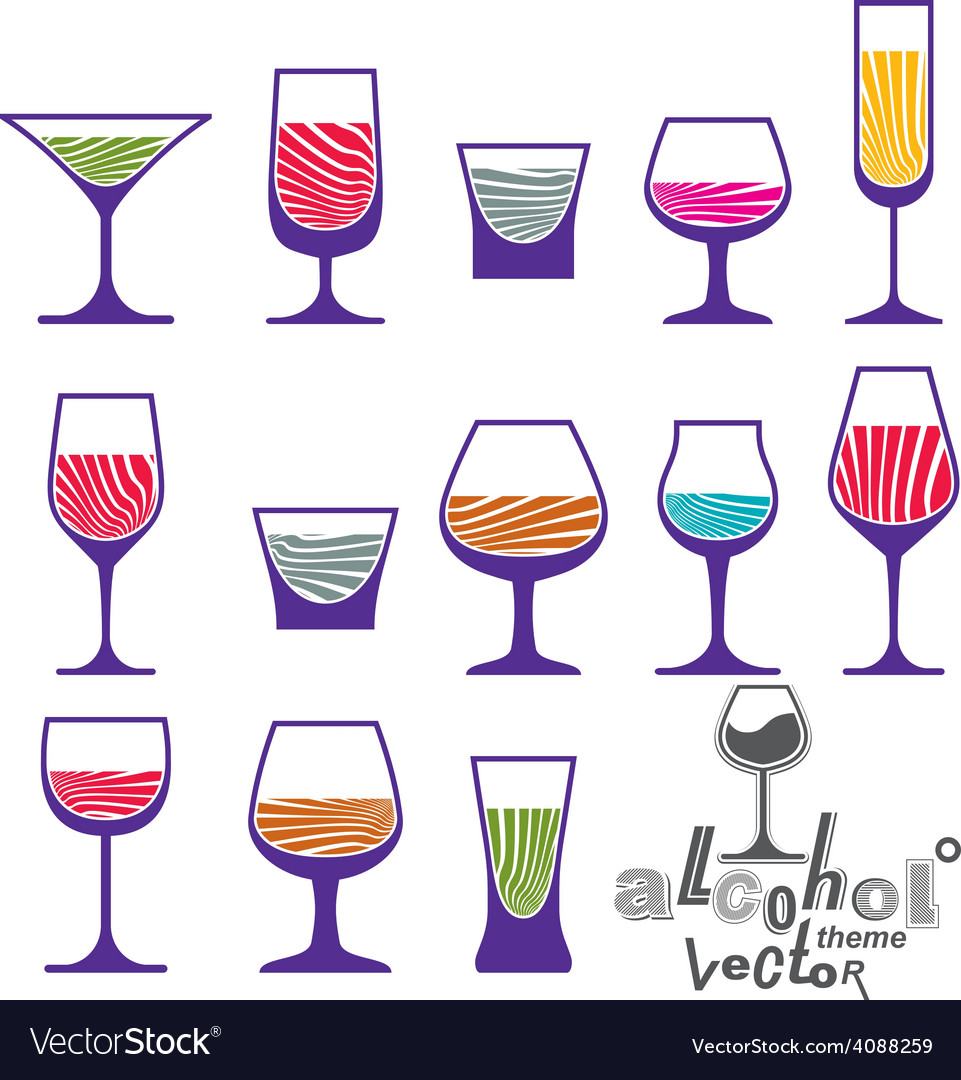 Classic goblets collection vector | Price: 1 Credit (USD $1)
