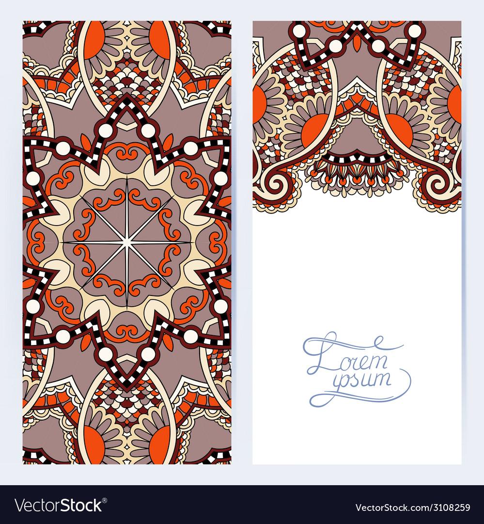 Decorative label card for vintage design ethnic vector   Price: 1 Credit (USD $1)